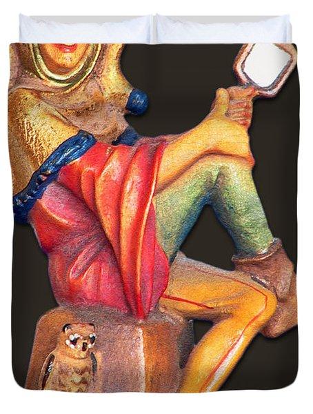 Till Eulenspiegel - The Merry Prankster Duvet Cover by Christine Till