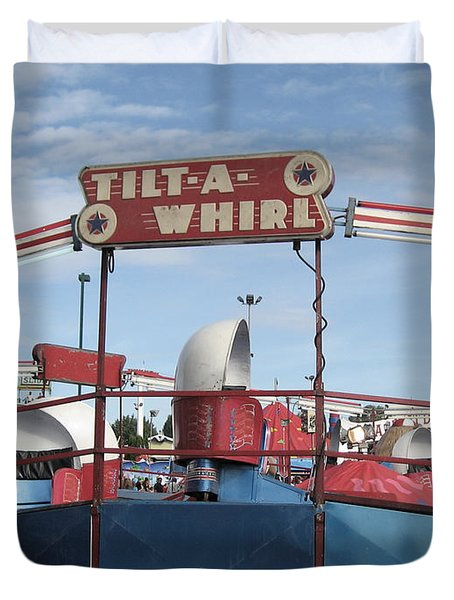 Tilt A Whirl Ride Duvet Cover