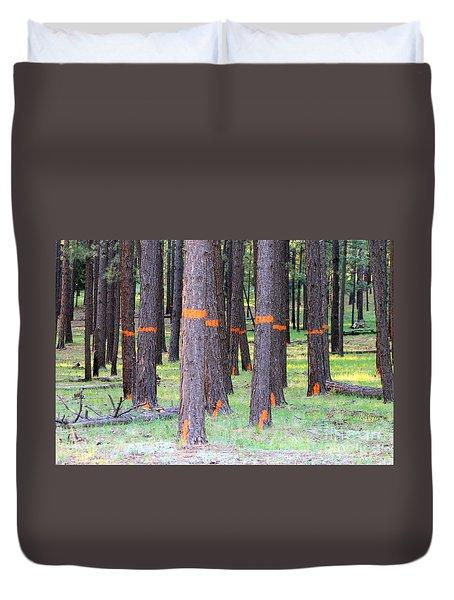 Timber Marking Duvet Cover