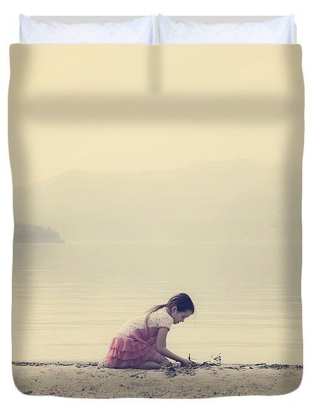Time To Be Duvet Cover by Joana Kruse