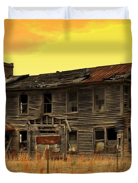 Duvet Cover featuring the photograph Times Past by Marty Koch