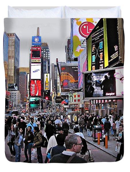 Times Square New York Duvet Cover