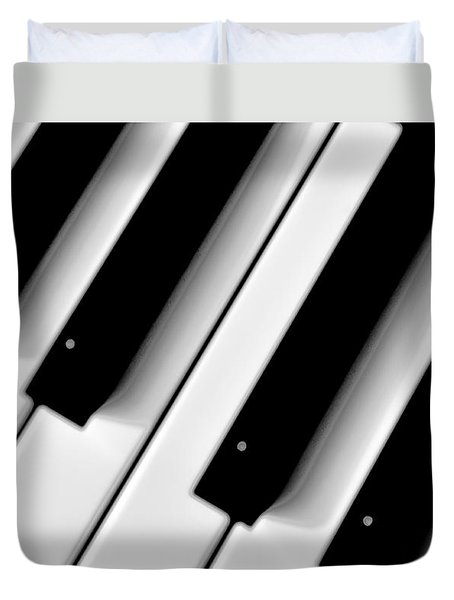 Tinkling The Ivories Duvet Cover by Bill Cannon
