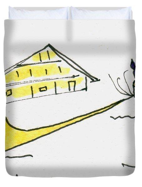 Tis Alpenhorn Duvet Cover by Tis Art