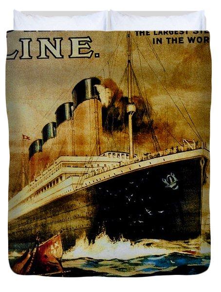 Titanic - White Star Line Duvet Cover by Bill Cannon