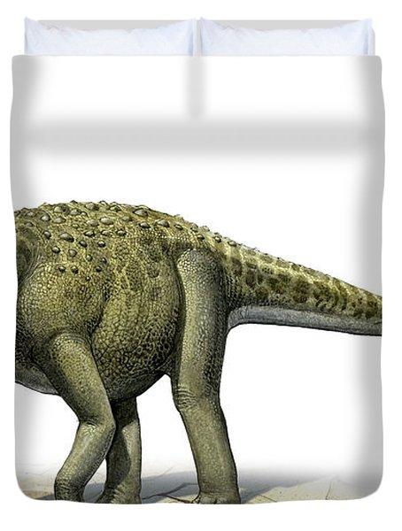 Titanosaurus Indicus, A Prehistoric Era Duvet Cover by Sergey Krasovskiy