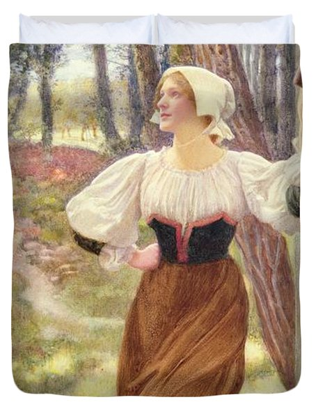 Tithe In Kind Duvet Cover by Edward Robert Hughes