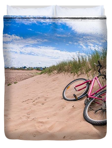 To The Beach Duvet Cover by Edward Fielding