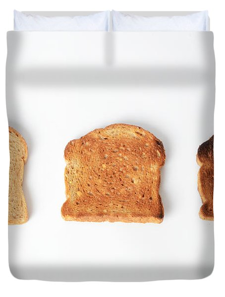 Toasting Bread Duvet Cover by Photo Researchers, Inc.