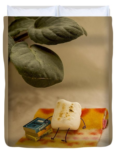 Toasting Duvet Cover by Heather Applegate