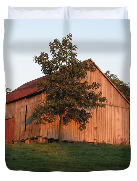 Tobacco Barn II In Color Duvet Cover