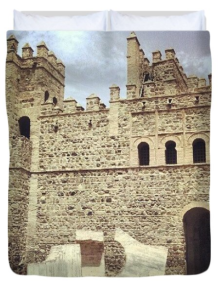 #toledo #castle #castello #castillo Duvet Cover
