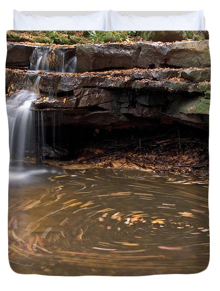 Duvet Cover featuring the photograph Tolliver Falls by Jeannette Hunt