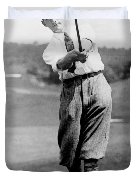 Tom Armour Wins Us Golf Title - C 1927 Duvet Cover by International  Images