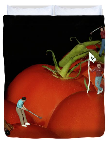 Tomato Beach Golf Classsic Duvet Cover by Bob Christopher