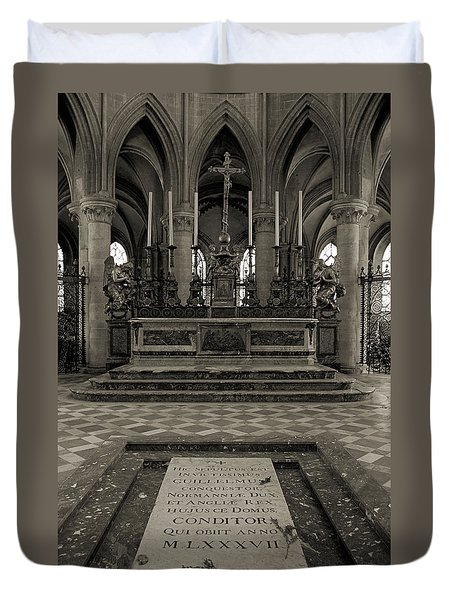 Tomb Of William The Conqueror Duvet Cover by RicardMN Photography