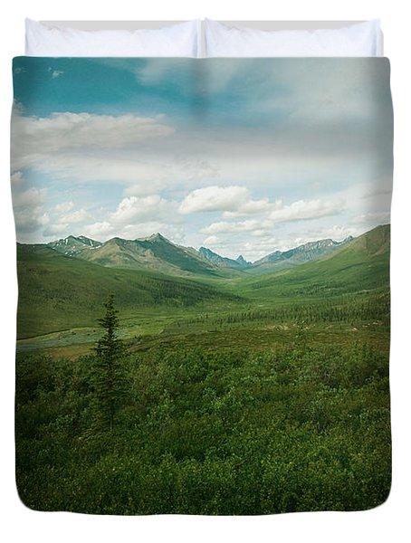 Tombstone Mountain Duvet Cover by Priska Wettstein