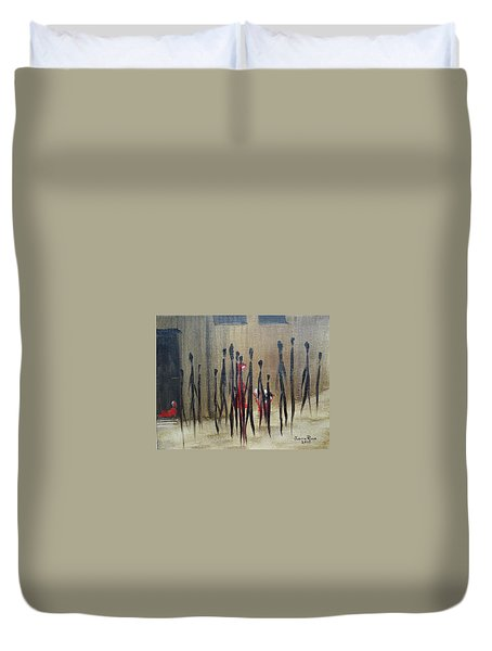 Too Busy To Notice Duvet Cover by Judith Rhue