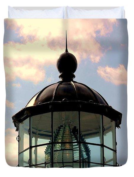Top Of Bonita Lighthouse Duvet Cover by Kathleen Struckle