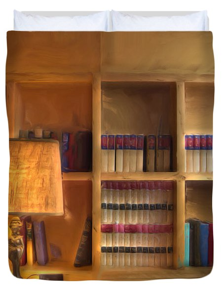 Top Pot's Library Duvet Cover by Heidi Smith