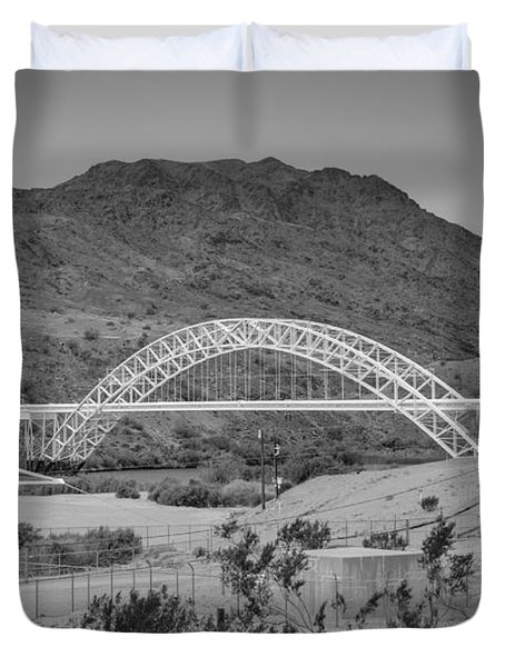 Topock Bridge Duvet Cover by Ricky Barnard