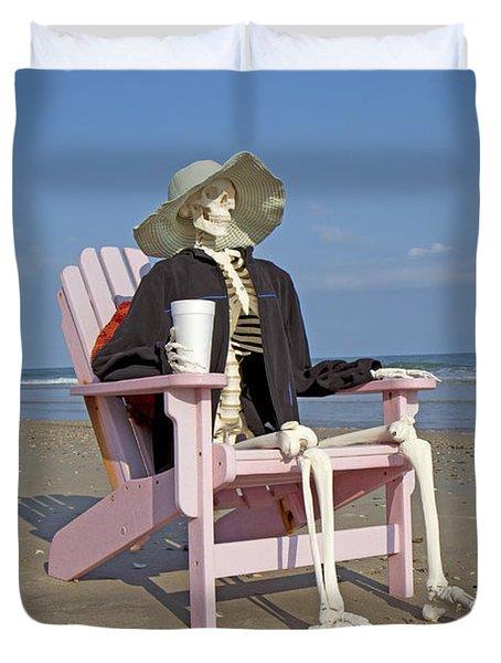 Topsail Island Beach Pirate Duvet Cover