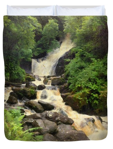 Torc Waterfall In Ireland Duvet Cover