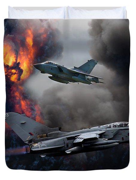 Tornado Gr4 Attack Duvet Cover by Ken Brannen