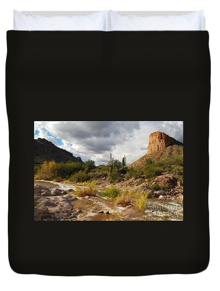 Duvet Cover featuring the photograph Tortilla Flat by Tam Ryan
