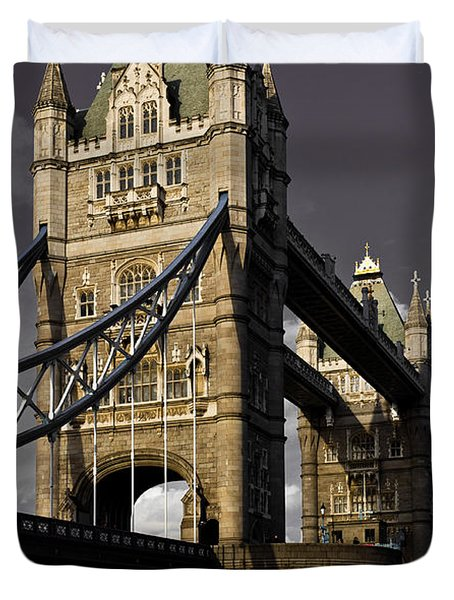 Tower Bridge Duvet Cover by David Pyatt