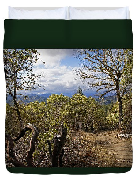 Trail At Cathedral Hills Duvet Cover by Mick Anderson