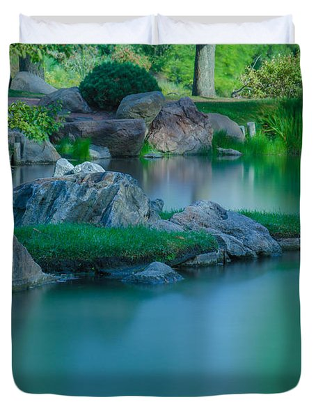 Tranquil Island Duvet Cover by Jonah  Anderson