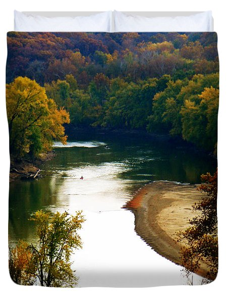 Duvet Cover featuring the photograph Tranquil View by Peggy Franz