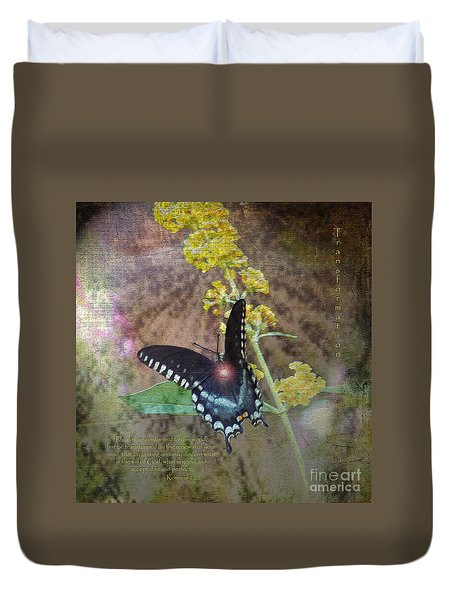 Transformation Duvet Cover by Patricia Griffin Brett