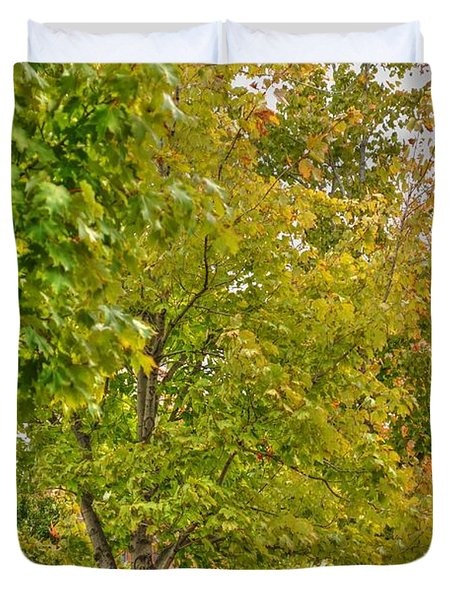 Duvet Cover featuring the photograph Transition Of Autumn Color by Michael Frank Jr