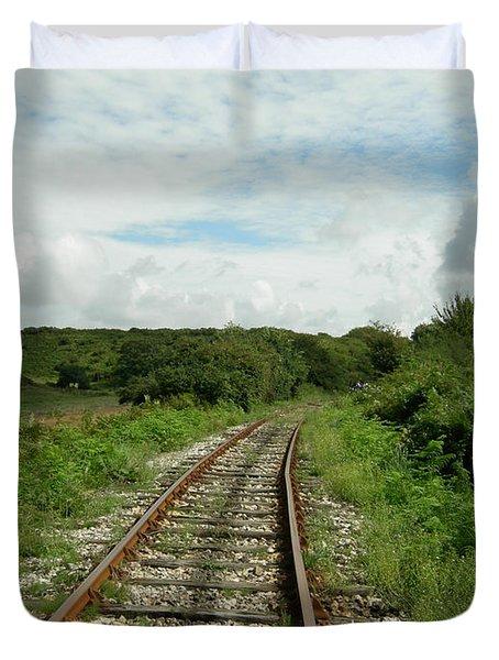 Traveling Towards One's Dream Duvet Cover