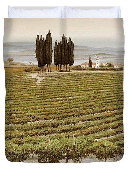 Tree Circle - Tuscany  Duvet Cover by Trevor Neal