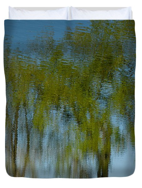 Tree Line Reflections Duvet Cover by Colleen Coccia