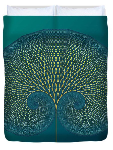 Tree Of Well-being Duvet Cover by Mark Greenberg