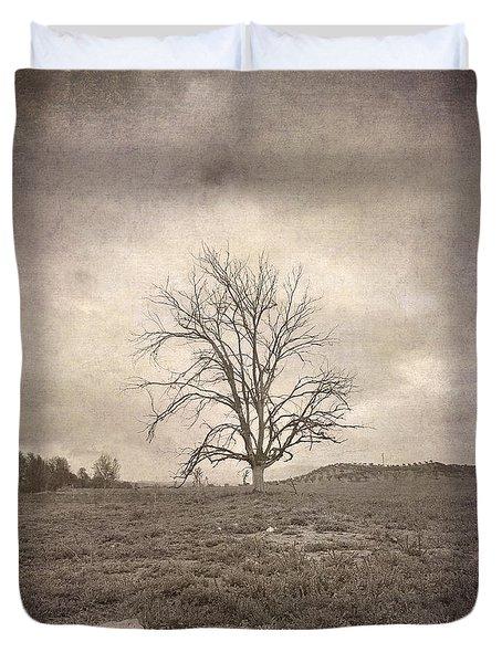 Tree Under The Rain Duvet Cover by Guido Montanes Castillo