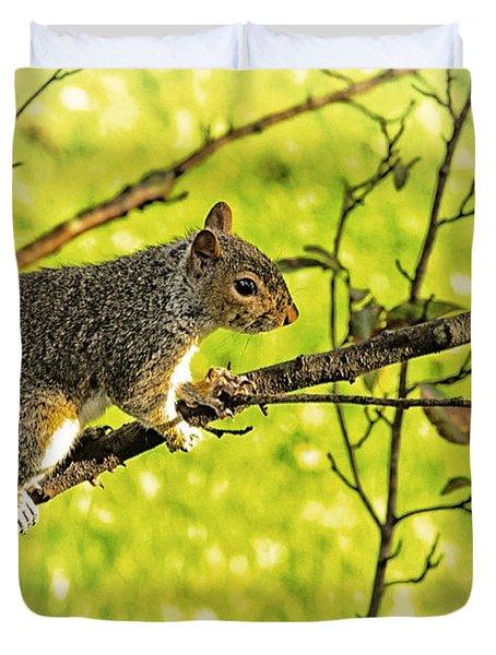 Tree Visitor Duvet Cover by Karol Livote