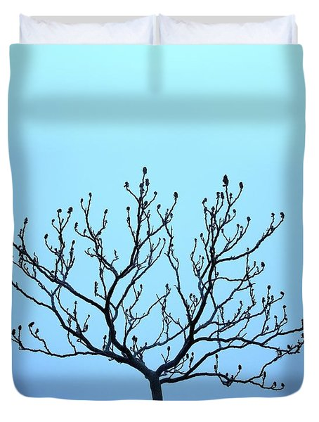 Tree With The Blues Duvet Cover