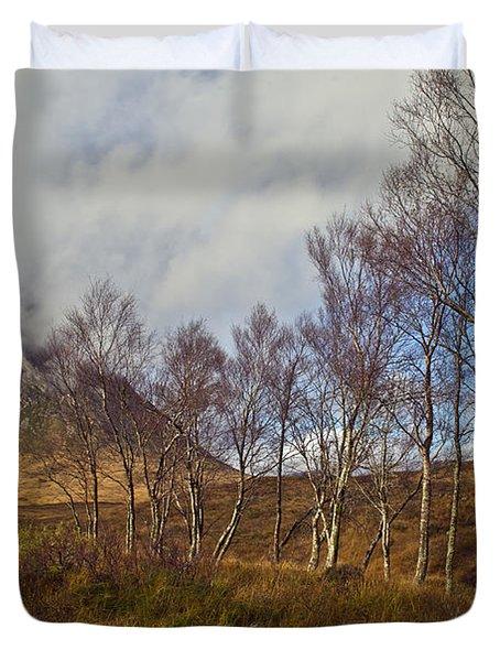 Trees Below Stob Dearg Duvet Cover by Gary Eason