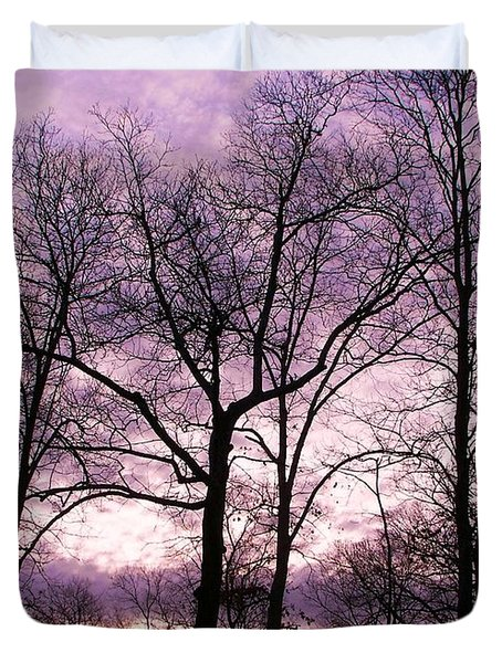 Duvet Cover featuring the photograph Trees In Glorious Calm by Pamela Hyde Wilson