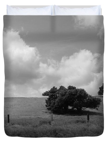 Duvet Cover featuring the photograph Trees On The Hillrise by Kathleen Grace