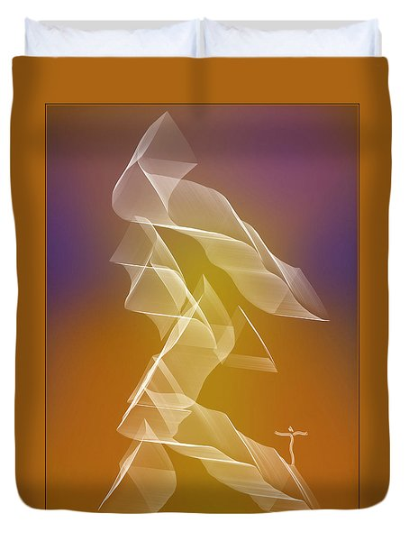 Duvet Cover featuring the digital art . by James Lanigan Thompson MFA