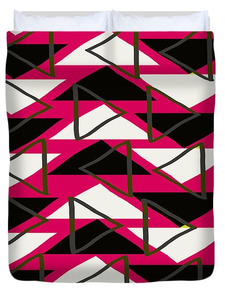 Triangles Duvet Cover by Louisa Knight