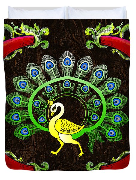 Tribal Peacock Duvet Cover