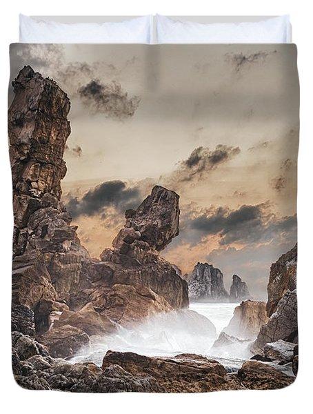 Trident Duvet Cover by Evgeni Dinev