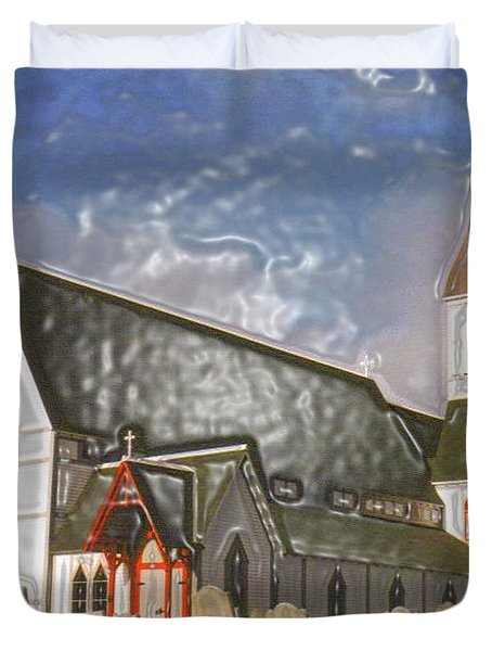 Duvet Cover featuring the photograph Trinity  by Lydia Holly